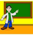 Cartoon teacher vector image vector image