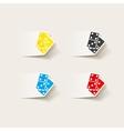 realistic design element domino vector image