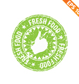 Rubber stamp food - - EPS10 vector image