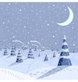 Winter landscape scene vector image
