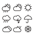 Weather sign vector image vector image