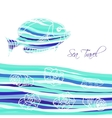 Sea Background with blue fish vector image vector image