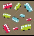 autobus pattern vector image vector image