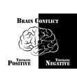 Brain Conflict vector image