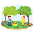 children garden vector image