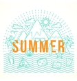 Line Style Flat Summer with vector image vector image