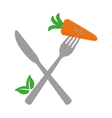 isolated carrot design organic food concept vector image
