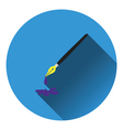 Fountain pen with blot icon vector image