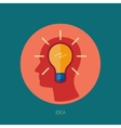 Idea generation adn brain storming flat icon vector image