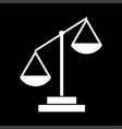 law scale white color icon vector image
