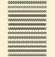mega set of fine filigree border patterns vector image