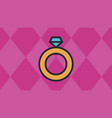 ring icons with red diamond shaped quadrangle vector image