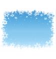 Snowflake border vector image