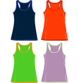 Sleeveless Tops and Tank Tops vector image vector image