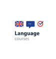 English as a second language Fluent speaking vector image