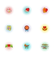 Celebration of mothers day icons set vector image