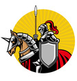 Medieval Knight ride a horse vector image