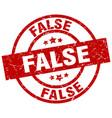 False round red grunge stamp vector image