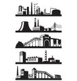 Industrial plants in perspective vector image vector image