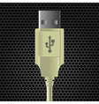 USB cable vector image