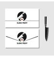 Logo design element Sushi roll japan vector image