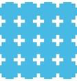 Plus straight pattern vector image