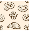 Seamless pattern with vintage bakery vector image vector image