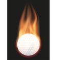 Golf ball with flame vector image vector image