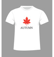 autumn t-shirt vector image