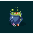 black witches cauldron with green potion vector image