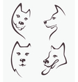 funny dogs heads vector image