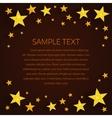 Golden stars background vector image