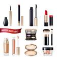 makeup items realistic set vector image