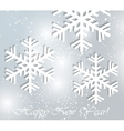 Merry Christmas Landscape Happy New Year vector image