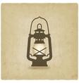 oil lantern old background vector image