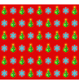 Pattern with glowing christmas trees and vector image