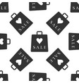 shopping bag shop love like heart icon seamless vector image