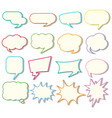 Speech bubble templates on white background vector image