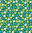 Seamless pattern with stylized flowers floral vector