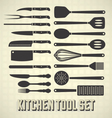 Kitchen Tools Set vector image vector image