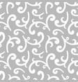 seamless silver vintage wallpaper vector image