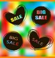 doodle sale tags sale banners set labels for vector image
