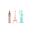 London Paris New York vector image