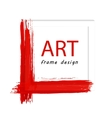 Art painted frame vector image