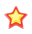 bright colored cartoon star vector image