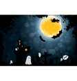 Grungy Halloween Background with Ghosts vector image