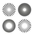 rays beams element sunburst starburst shape vector image