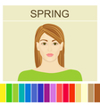 Stock spring type of female appearance vector image
