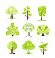 Tree icon and symbols vector image