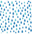 water drops pattern blue color vector image